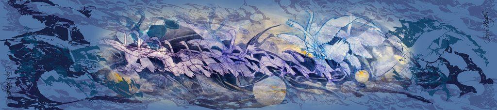 blue swans scarf