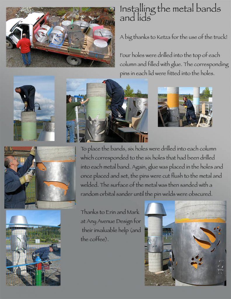 page 4-installing the metal